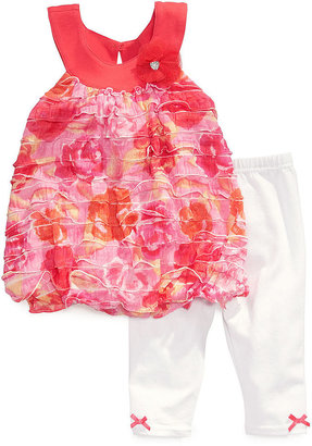 Nannette Baby Girls' 2-Piece Bubble Tunic & Leggings Set