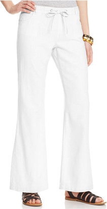 Celebrity Pink Jeans Juniors' Wide-Leg Linen Pants
