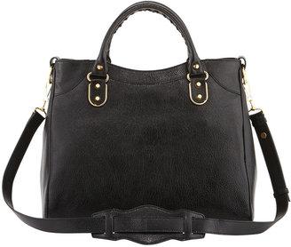 Balenciaga Metallic Edge Classic Velo Bag, Black