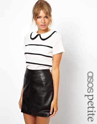 Asos Exclusive Blouse With Contrast Pintucks And Collar