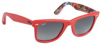 Ray-Ban coral acrylic 'Original Wayfarer' sunglasses