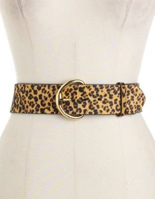 Lauren Ralph Lauren Leopard-Printed Calf-Hair Leather Belt