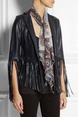 Kate Moss for Topshop Paisley-print chiffon scarf