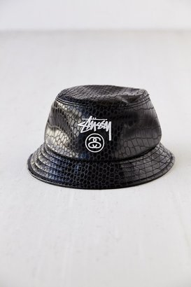 Stussy Croc Faux-Leather Bucket Hat