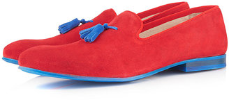 Topman Red 'Taylor' Tassle Slippers