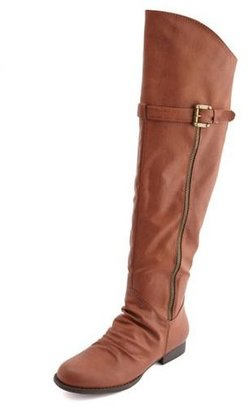 Charlotte Russe Side-Zip Over-the-Knee Boot