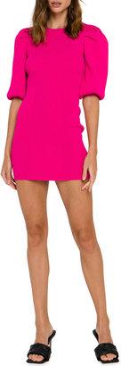 Endless Rose Puff-Sleeve Mini Knit Dress