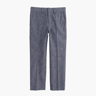 J.Crew Boys' slim Ludlow suit pant in Japanese chambray