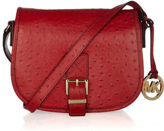 MICHAEL Michael Kors Ostrich-effect leather saddle bag