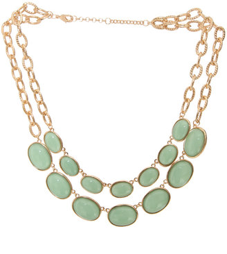 Arden B Double Row Bib Necklace