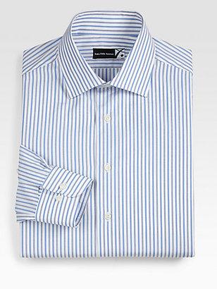 Saks Fifth Avenue Striped Cotton Dress Shirt