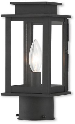 Livex Lighting Princeton 1-Light Outdoor Black Post Light