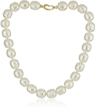 """Majorica 14mm White Baroque with Bean Clasp 17"""" Necklace"""