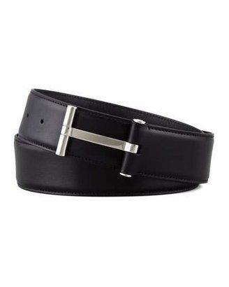 TOM FORD Men's Leather T-Buckle Belt, Black $840 thestylecure.com