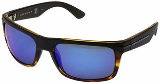 Kaenon Burnet (Matte Black/Tortoise/Pacific Blue Mirror) Sport Sunglasses