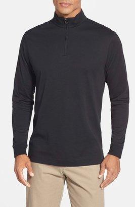 Men's Cutter & Buck 'Belfair' Quarter Zip Pima Cotton Pullover $80 thestylecure.com