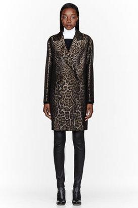 Lanvin Bronze Leopard Print Coat