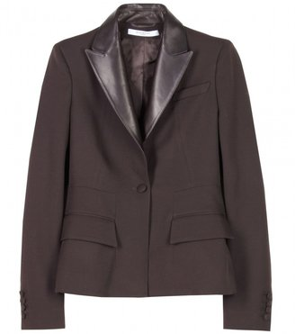 Givenchy BLAZER WITH LEATHER LAPEL