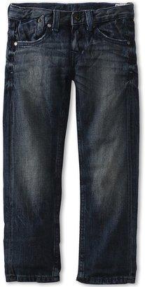 Fox Throttle Jeans (Little Kids) (Dirty Rinse) - Apparel