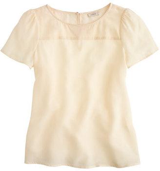 Lee Silk short-sleeve blouse