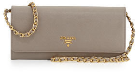 Prada Saffiano Wallet-on-Chain $860 thestylecure.com
