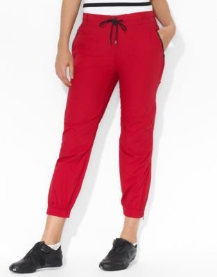 LAUREN ACTIVE Ripstop Drawstring Cropped Pant