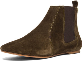 Isabel Marant Dewar Velvet Boots in Khaki