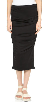 Three Dots Ruched Midi Skirt $84 thestylecure.com