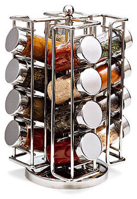 Container Store Chrome Spinning Spice Rack