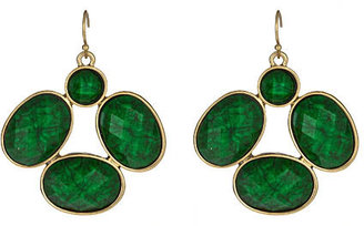 Blu Bijoux Emerald Shara Earrings