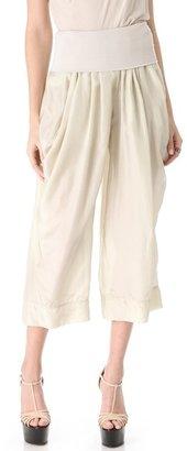 Donna Karan Full Leg Pants with Draped Pockets
