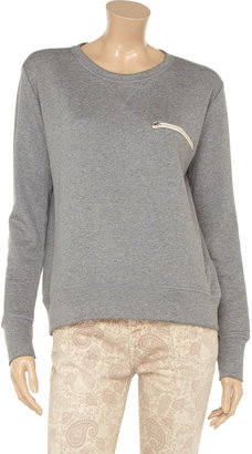 LnA Remi embellished cotton and modal-blend sweatshirt