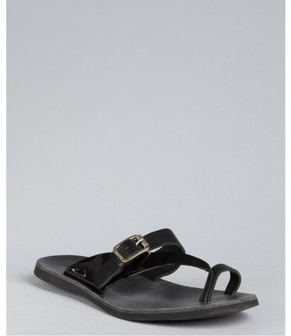 Hogan black leather 'Mare' buckle sandals