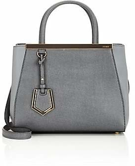Fendi Women's 2Jours Petite Leather Tote - Gray