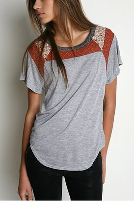 Urban Outfitters Kimchi Blue Patchwork Metallic Tee