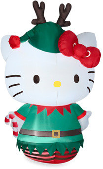 Hello Kitty Airblown® 5.5-Foot Dressed as an Elf