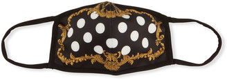 Dolce & Gabbana Reusable Polka Dots & Baroque Printed Cloth Mask Face Covering