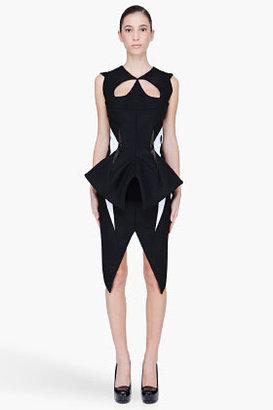Thierry Mugler Black wool Padded Cutout Dress