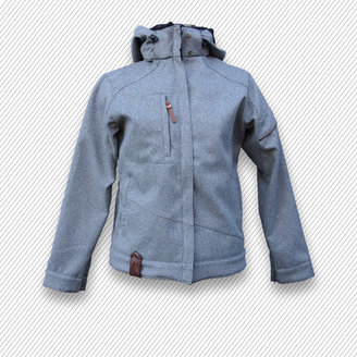 Pop Outerwear Womens Softshell Light Gray