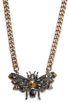 MANGO Crystal And Rhinestone Insect Necklace