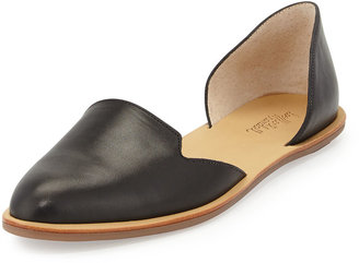 Loeffler Randall Leather d'Orsay Flat, Black