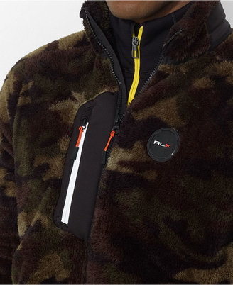 Polo Ralph Lauren Jacket, RLX Zip-Front Camo Micro-Velour Jacket