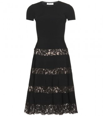 Valentino CHANTILLY LACE TRIMMED DRESS
