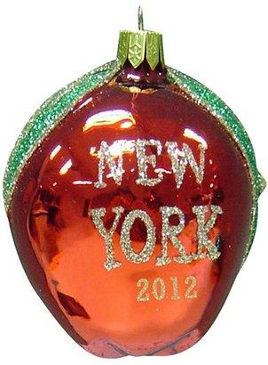 """Kurt Adler New York 2012"""" Glass Apple Ornament"""