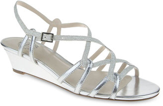 I. MILLER I. Miller Fair Metallic Strappy Wedge Sandals $60 thestylecure.com
