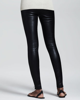 The Row Stretch-Leather Leggings