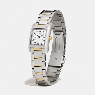 Coach Lexington Two Tone Mini Bracelet Watch