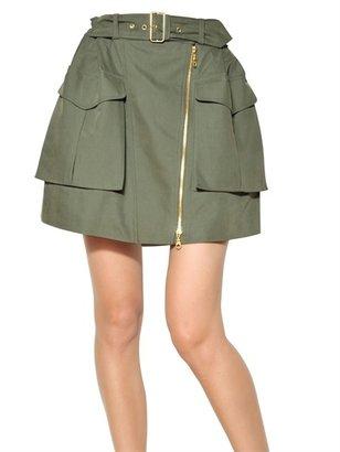 Kenzo Military Cotton Skirt
