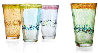 S4 S/4 Assorted Sunrise Ice Tea Glasses