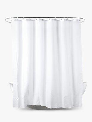 John Lewis & Partners Slub Shower Curtain, Extra Long